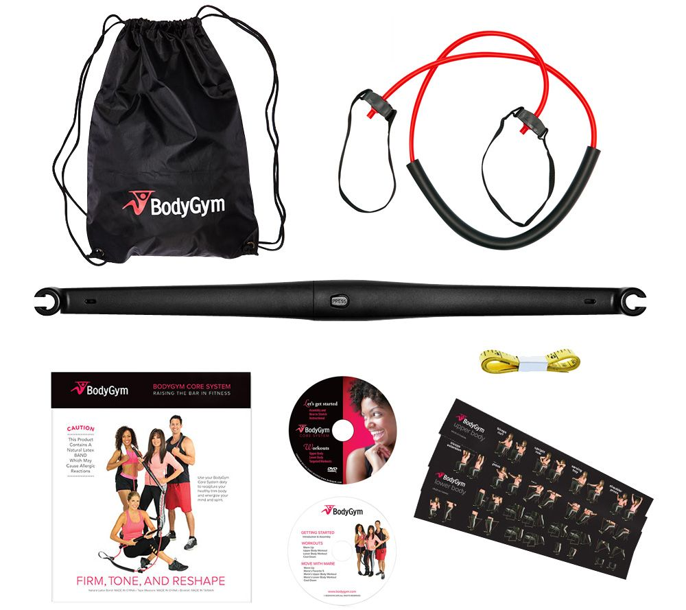 Bodygym deluxe portable resistance band home gym with dvds