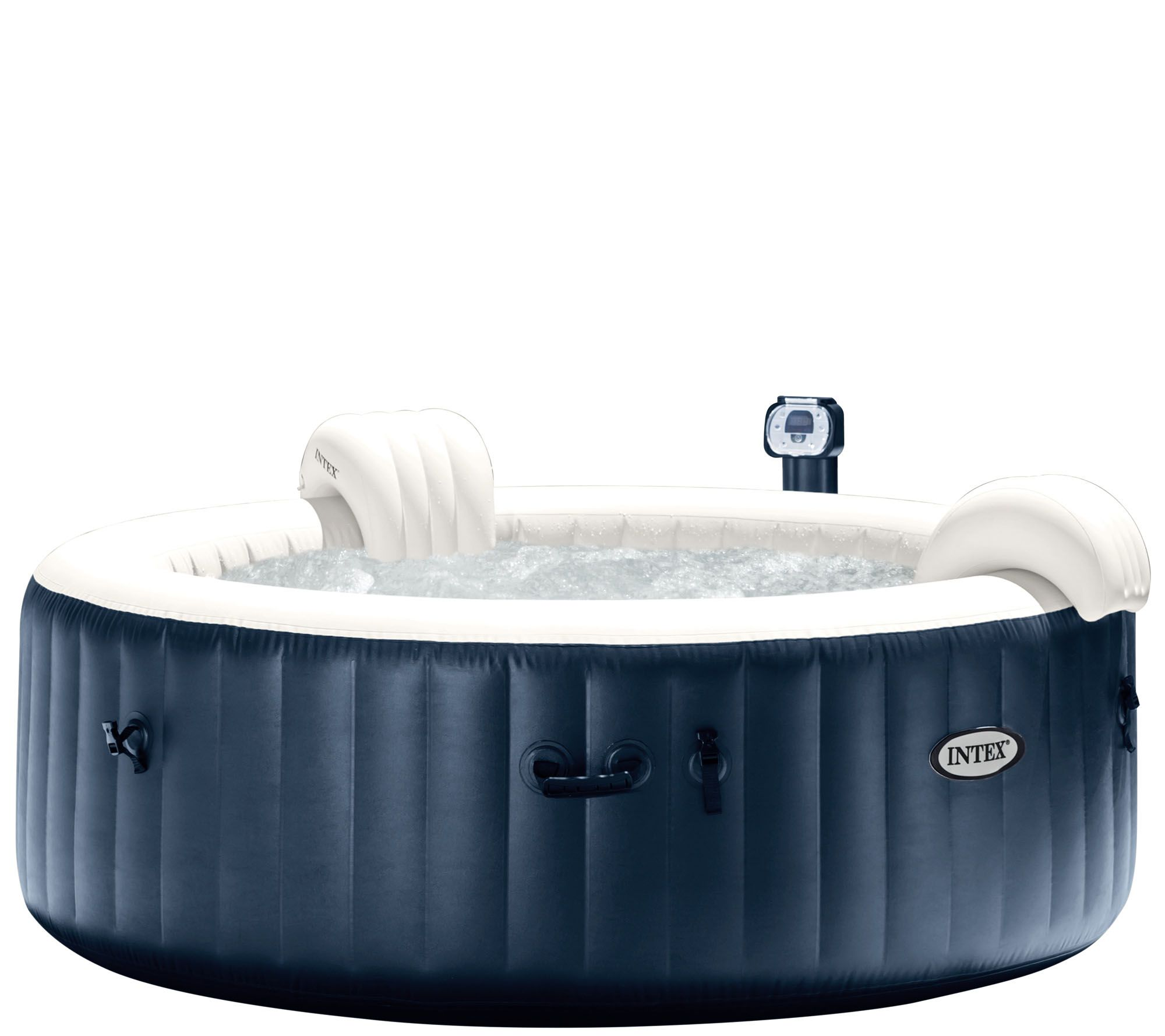 intex pure spa portable hot tub w headrests extra filters page 1. Black Bedroom Furniture Sets. Home Design Ideas