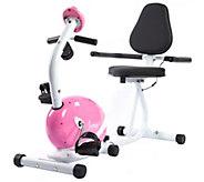 Sunny Pink Magnetic Recumbent Bike - F248965