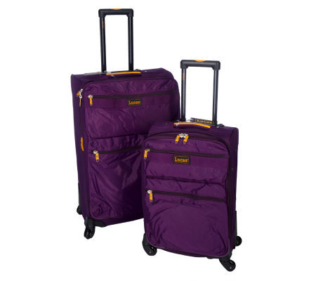 "Lucas 27"" and 21"" Spinner Expandable Luggage Set"