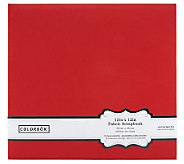 Colorbok Fabric Album 12 x 12 - Red - F247168