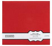Colorbok Fabric Album 12 x 12 - Red - F247168