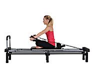 AeroPilates Reformer 266 with Stand, Rebounder, Cords, & DVDs - F248769