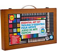 ALEX Toys Artist Studio 80-Piece Art Set w/ Wood Carrying Case - F250371