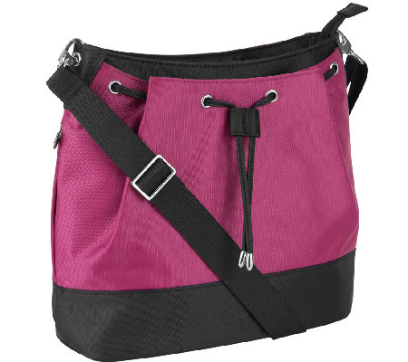 Travelon Front Cinch Bucket  Bag with RFID