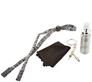Foster Grant Knit Corded Lanyard and Cleaning Kit - F12773