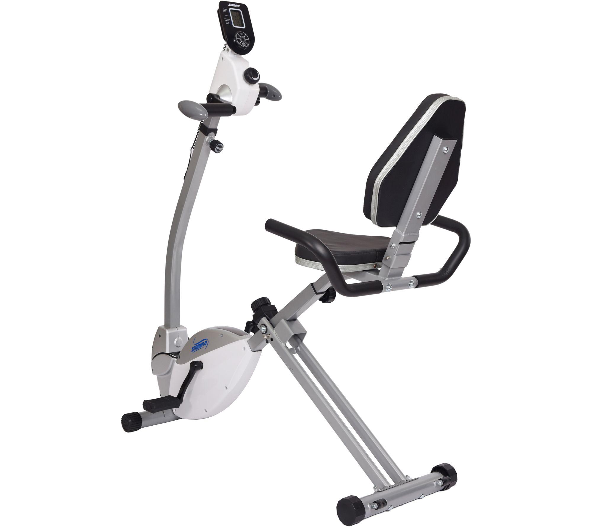 Stamina recumbent exercise bike with upper bodyexerciser