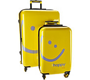 Peace Love World Two-Piece Hardside Luggage Set - F12677
