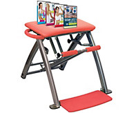 Pilates PRO Chair with 4 DVDs by Lifes A Beach - F12082