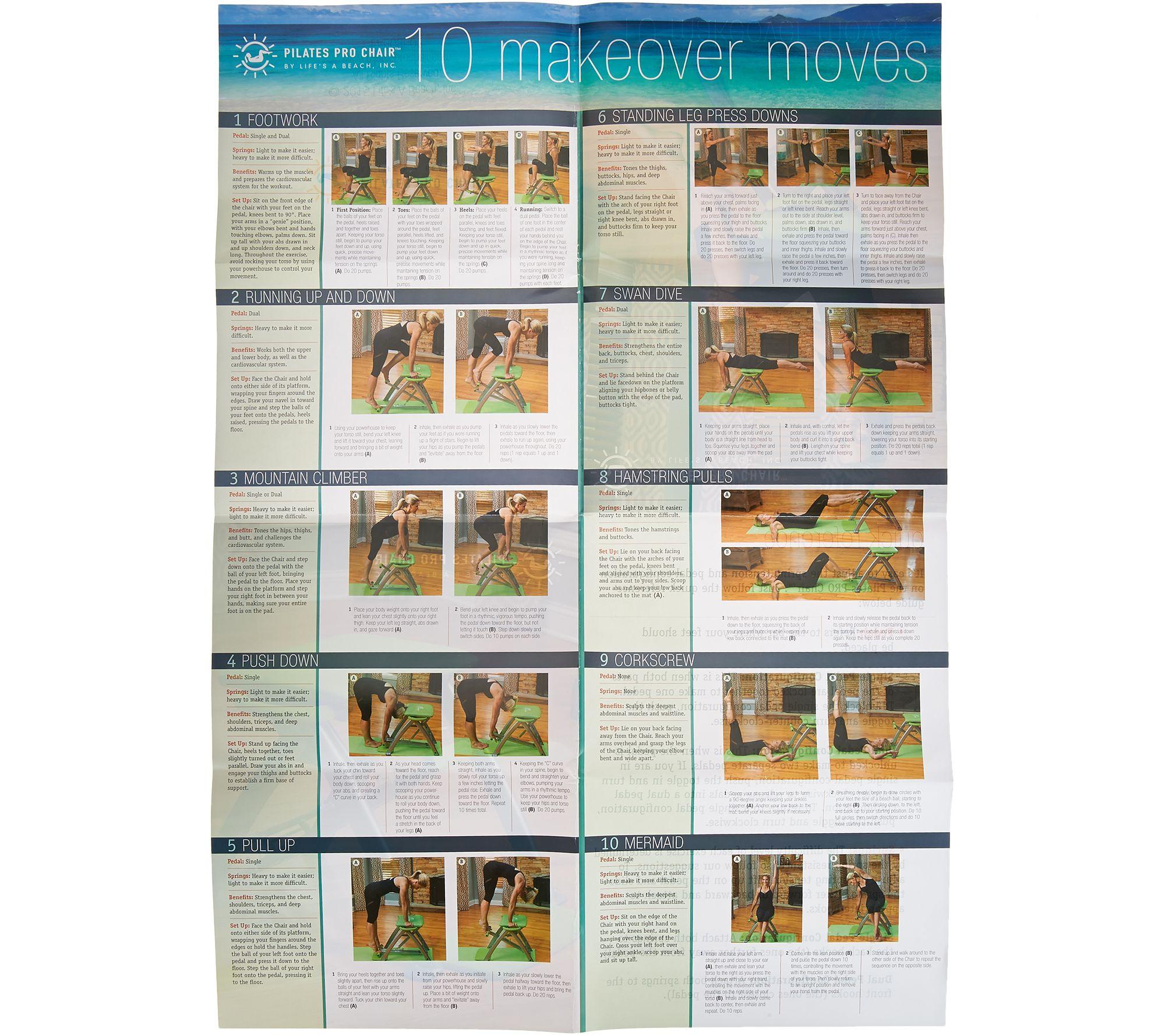 Malibu Pilates Pro Exercise Chair: Pilates Chair Qvc