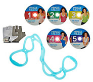 Leslie Sansone Miracle Miles 5 DVD Set with Sculpting Band & Gloves - F12285