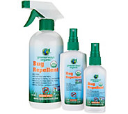 Greenerways 3-piece Organic Citronella Insect Repellent - F12785