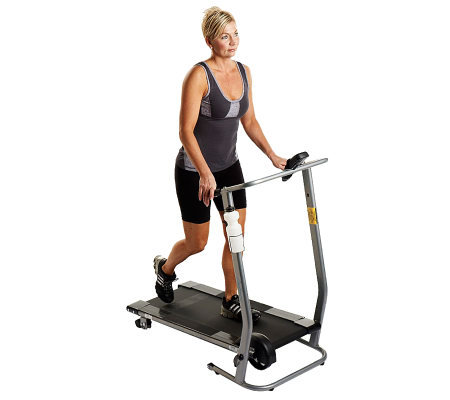 Cory Everson Manual Folding Treadmill with LCD Display