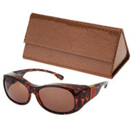 Haven Elegant Animal Print Fits Over Sunglasses by Foster Grant