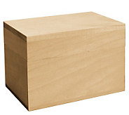 Basswood Recipe Box - F187288