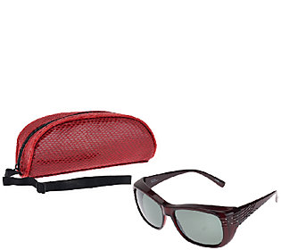 Haven Chic Crystal Comet Fits Over Sunglasses by Foster Grant