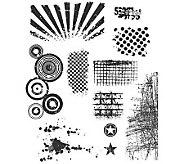 Tim Holtz Large Cling Rubber Stamp Set - BittyGrunge - F244989