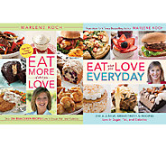Eat More & Eat Everyday 2 Cookbook Set by Marlene Koch - F11890