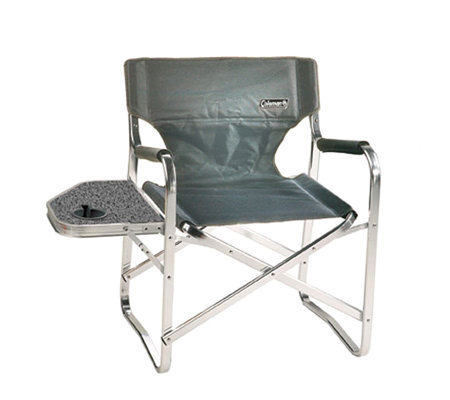 Coleman Folding Deck Chair With Side Table Andcup Holder