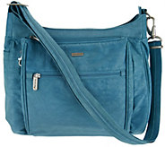 Travelon Anti-Theft Stacked Zipper RFID Crossbody - F12094
