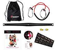 BodyGym Deluxe Portable Resistance Band Home Gym with DVDs and Bag - F12294