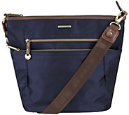 Travelon Anti-Theft RFID Bucket Bag with Leather Trim - F12494