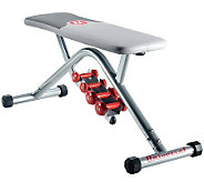 Universal UB200 Flat Bench with Dumbbells - F247694