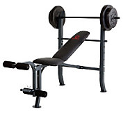 Marcy Standard Bench with 80-lb Weight Set - F244295