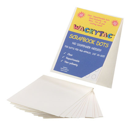 Wacky Tac Set of 1200 Repositionable Adhesive Dots