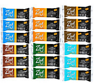 Zing Bars 18-Piece Smart Nutrition Bar Variety Pack - F12296