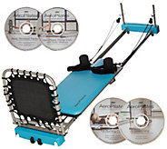Aeropilates 4-Cord Reformer Plus w/ 4 DVDs and Rebounder - F12197