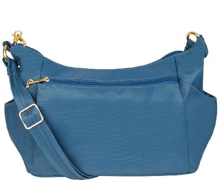 Travelon Anti-Theft Flap Front Hobo Bag