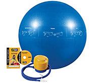 GoFit Pro 55cm Stability Ball & Core Training DVD - F195498