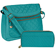 Travelon Anti-Theft Quilted Convertible Bag w/ RFID Wallet - F11699