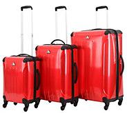 Triforce Luggage 3-Piece Luggage Set - Apex Pinstripe - F250199
