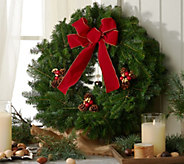 Fresh Balsam Holiday Wreath w/ Jingle Bell by Valerie - /H95000