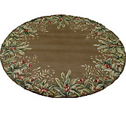 Royal Palace 56 x 56 Round Tropical BorderWool Rug - H126300