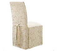 Sure Fit Set of 2 Scroll Dining Room Chair Slipcovers - H156300