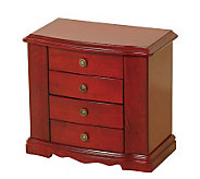 Mele & Co. Harmony Jewelry Box in Cherry Finish - H183500