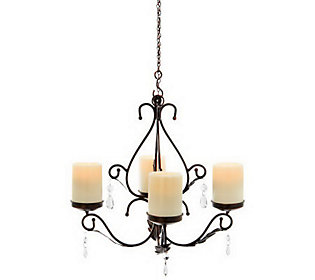 Indoor Outdoor 3-in-1 Sconces w/ 4 Flameless Candles by Home