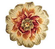 Royal Palace 45 x 45 Grand Floral Die Cut Wool Rug - H199800