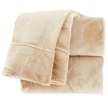 Qvc Berkshire Blanket Velvet Soft Cozy Sheet Set