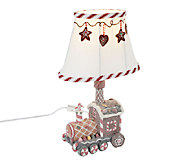 Sugared Gingerbread Accent Lamp by Valerie - H203100