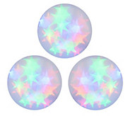 As Is Set of 3 Holographic 6 Spheres with Starbursts - H204000