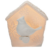 Kringle Express Illuminated Porcelain Birdhouse - H206400