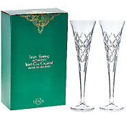 Lenox S/2 6 oz. Hand Cut Irish Crystal Fluted Glasses - H207000