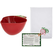 Temp-tations Figural Fruit 2qt Bowl with Napkin - H208300