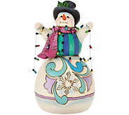 Jim Shore Heartwood Creek Snowman Wrapped in Lights Figurine - H209200