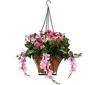 Bethlehem Lights Prelit Wisteria Hanging Basket w/ Timer
