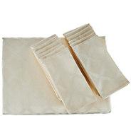 Lenox Laurel Leaf 70x144 Water Repel Table Cloth w/ 12 Napkins - H211000